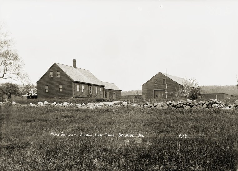 Main Buildings, Alford Lake Camp, So. Hope, Me