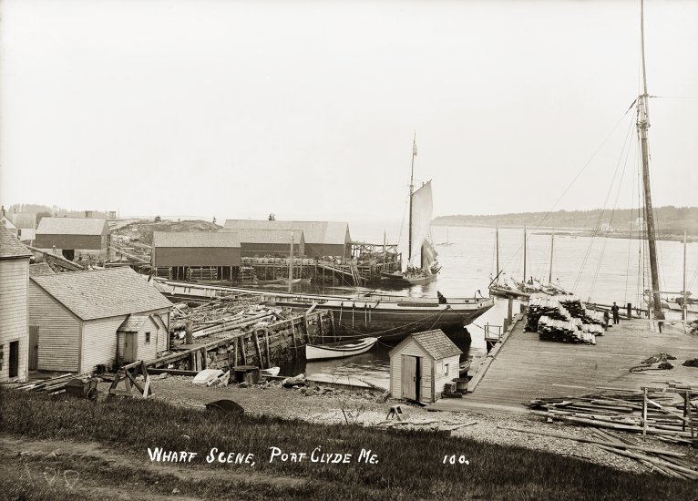 Wharf Scene, Port Clyde, Me