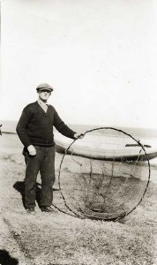 """Hoop net, first trap employed in catching lobsters."""