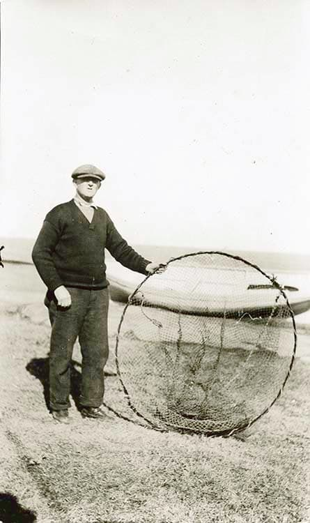 Hoop net, first trap employed in catching lobsters.