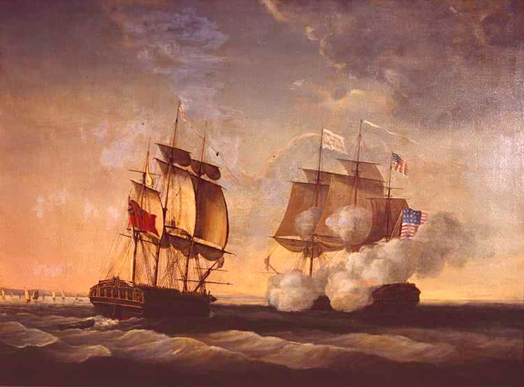 HMS SHANNON captures USS CHESAPEAKE June 1, 1813