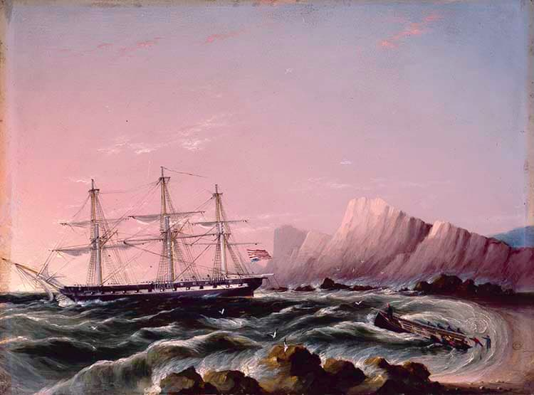 American Frigate in Distress
