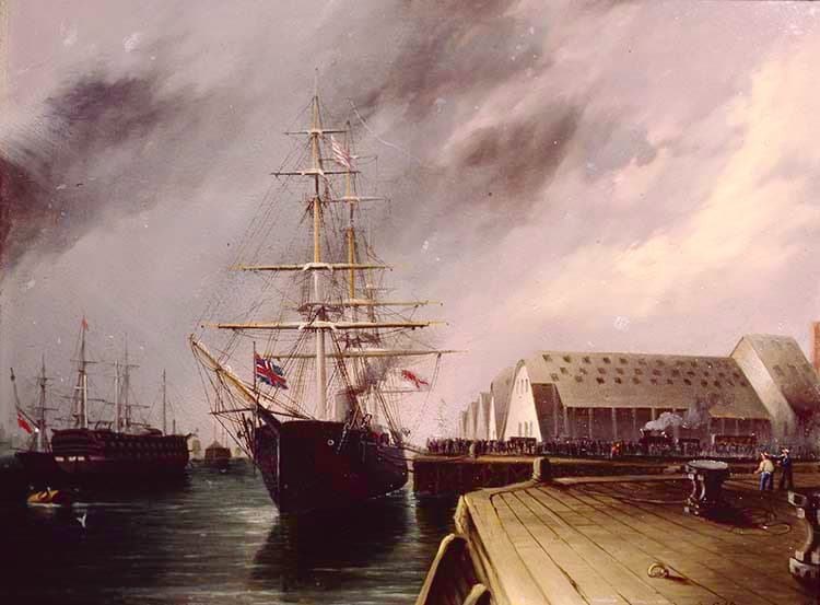 HMS MONARCH in Portsmouth, England