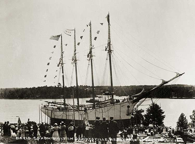 DAVID COHEN, Built in Dennysville, Me, Before Launching