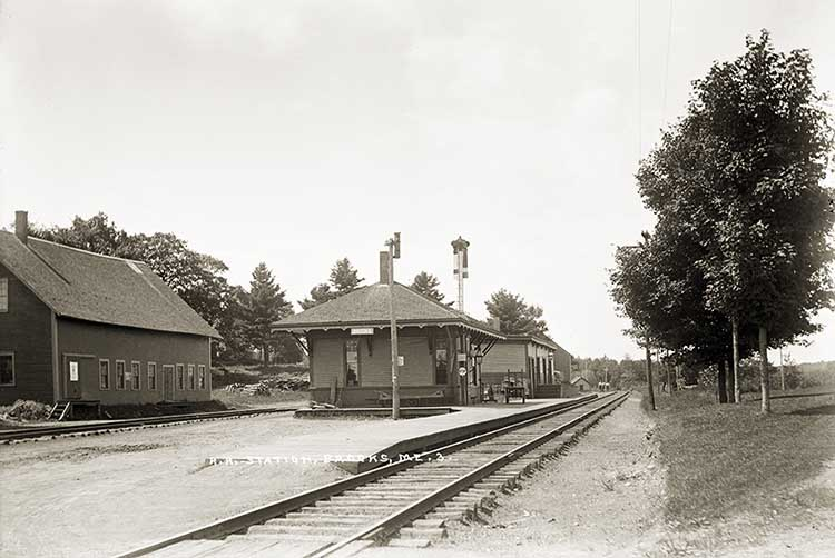 R.R. Station, Brooks, Maine