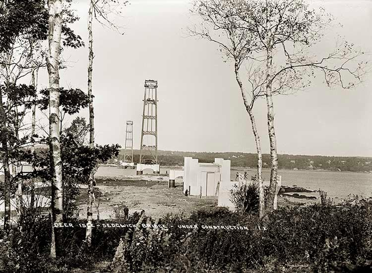 Deer Isle  Sedgewick Bridge &#8211; Under Construction