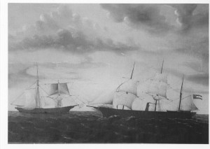 Capture of the  Brig JOSEPH PARK by the privateer SUMTER. Sept. 25, 1861.  signed George E. Bates, Stockton