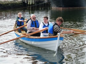 Rowing the St. Ayle's Skiff