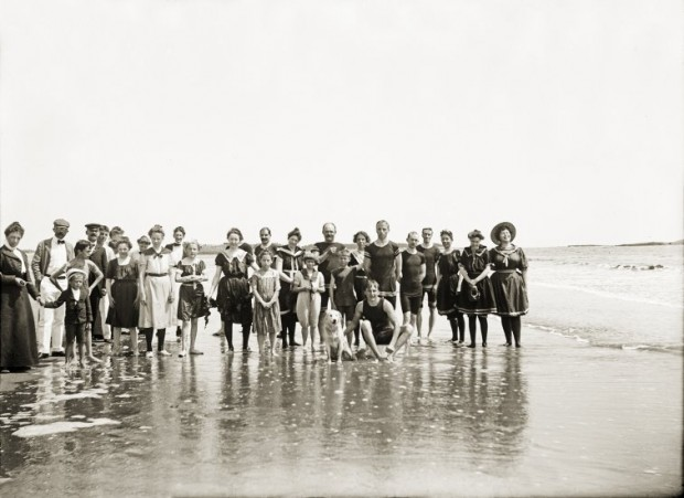 Popham Bathers, Photo Courtesy Penobscot Marine Museum