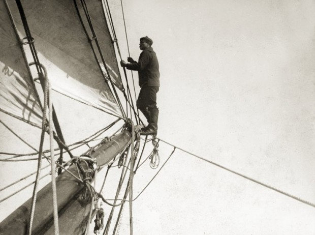 Man in Rigging, Photo Courtesy Penobscot Marine Museum