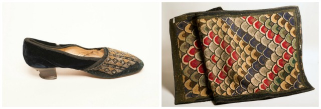 Left: Victorian Shoes, Right: Hooked Rug