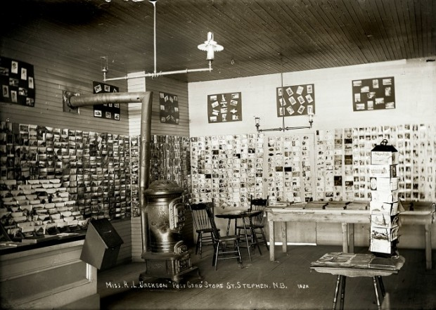 Post Card Store in St. Stephen, N.B. from Penobscot Marine Museum.