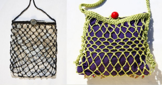 Fishnetting bags by Stephanie Crossman