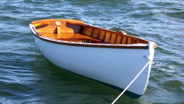 Wooden boat built by Cottrell Boatbuilders