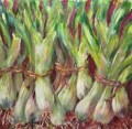 Scallions, acrylic by Susan Tobey White