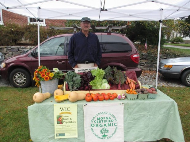 Farmer Jim Nichols at the Searsport Farmers Market