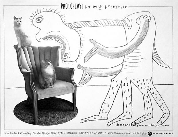 from the book PhotoPlay!: Doodle, Design, Draw by M.J. Bronstein