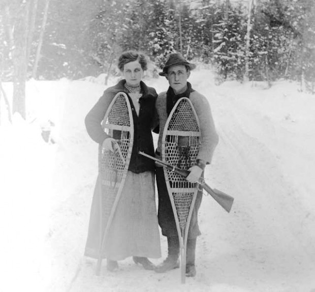 Snowshoes, photograph by Isaac Walton Simpson
