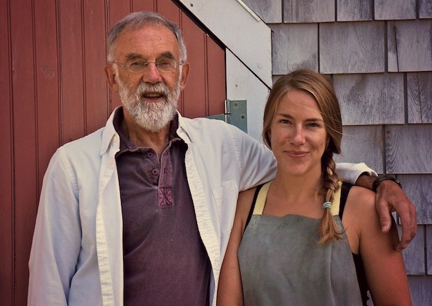 One Maine Christmas Eve author Douglas Coffin with his daughter