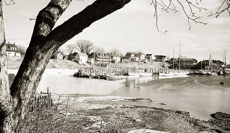Camden Harbor About 1940