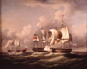 USS UNITED STATES captures HMS MACEDONIAN, October 25, 1812