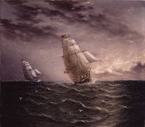 Two American Clipper Ships