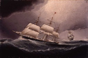 Clipper Ship in Heavy Squall