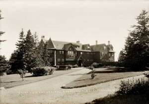 Front View and Grounds, Drexel Cottage, Islesboro, Maine