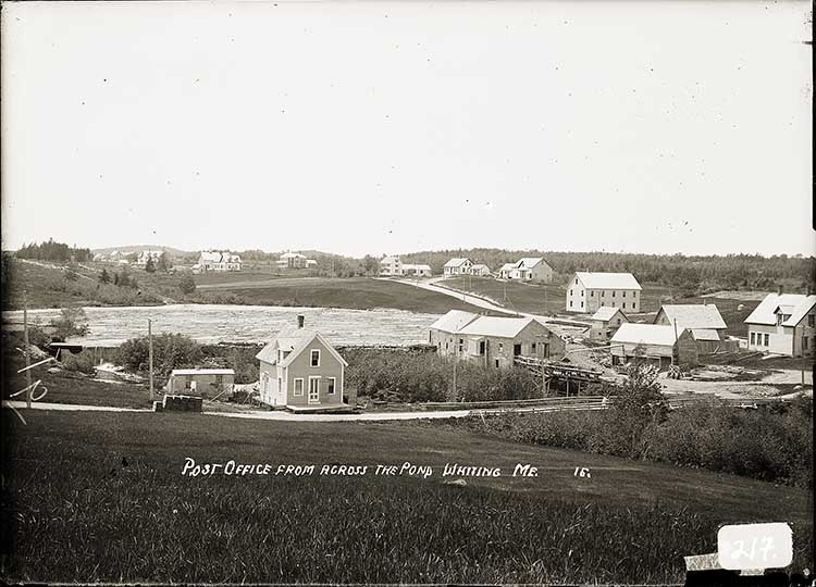 Post Office from Across the Pond, Whiting, Me.  16.