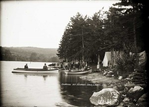 Camping Out, Georges Lake, Liberty, Maine