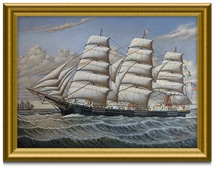 Painting of a tall ship