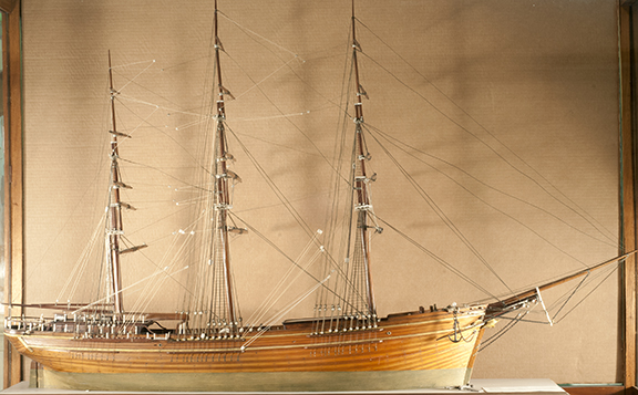 Model of the ship Frank N. Thayer