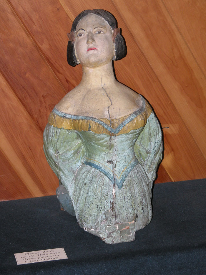 Figurehead with Light Green Dress