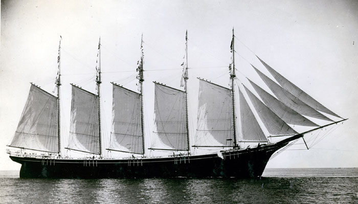 Five-Masted Schooner Martha P. Small