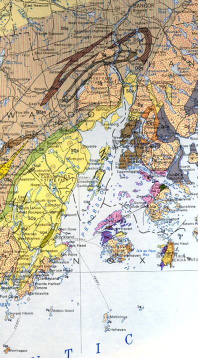 Geologic Map Of Maine.Penobscot Bay Geological Map Penobscot Bay History Online