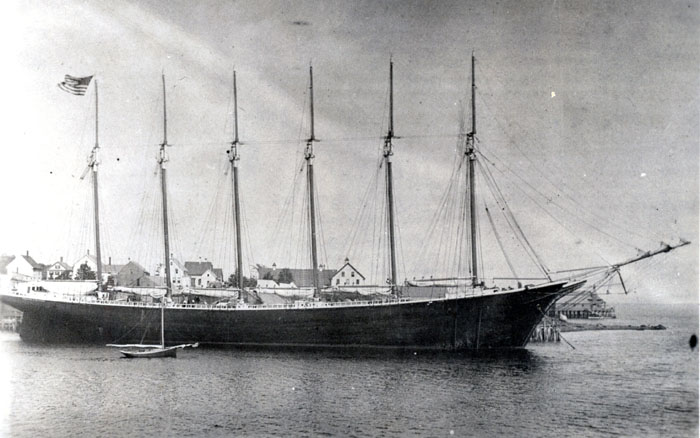 Six-Masted Schooner George W. Wells