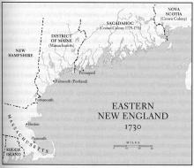 Eastern New England 1730