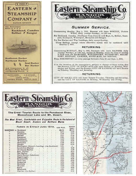 Eastern Steamship Company Brochure and Info