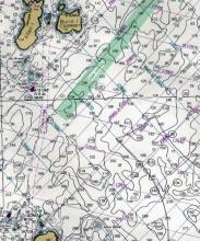 Loran Lines on Penobscot Bay Chart