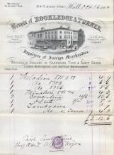 Receipt for the Purchase of Musical Instruments