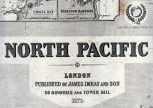Title Block, <em>North Pacific</em> Chart 1875