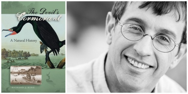 Left: The Devil's Cormorant, Right: Author Richard J. Kin