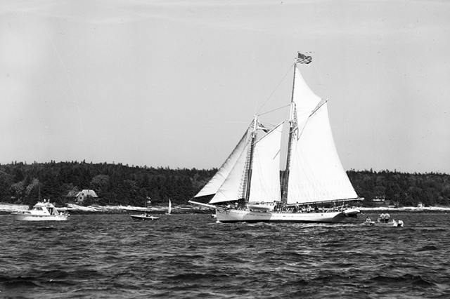 Schooner TIMBERWIND from the Boutilier Collection; part of Penobscot Marine Museum's extensive photo archives.